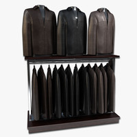 Mens Leather Jacket Display
