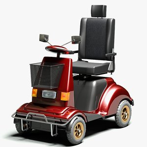 electric mobility scooter 3d max