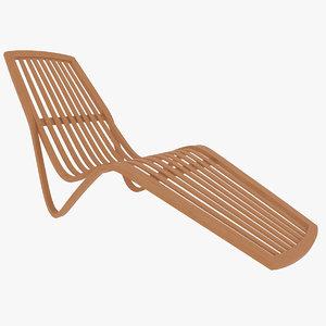 sunlounger chair 3d max