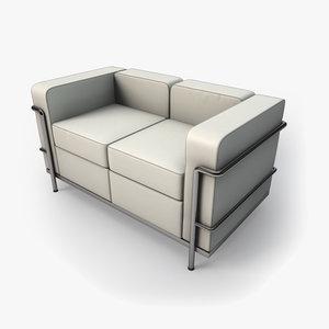 3ds max kmp corbu sofa