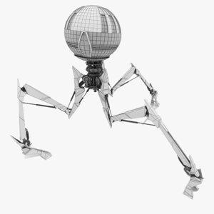 3d tripod droid - rigged