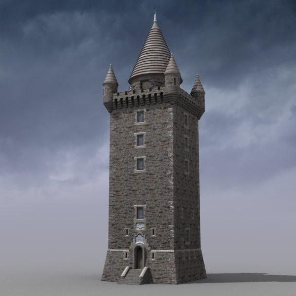 scrabo tower 3d model