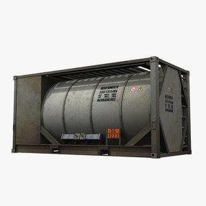 3d model industrial tank equipment