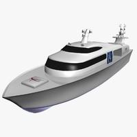 3d yacht model