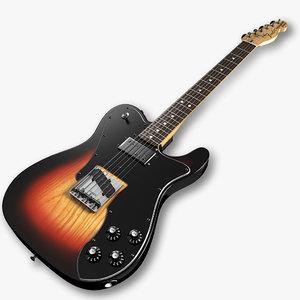 fender telecaster custom guitar 3d max