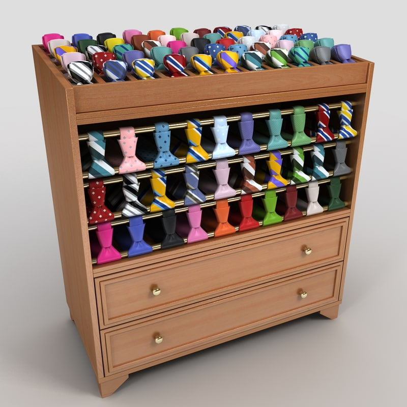 tie display rack 3d 3ds