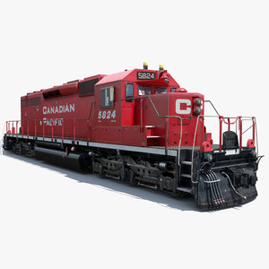 3d obj railway locomotive engine cargo train
