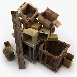 3d junk wood paper