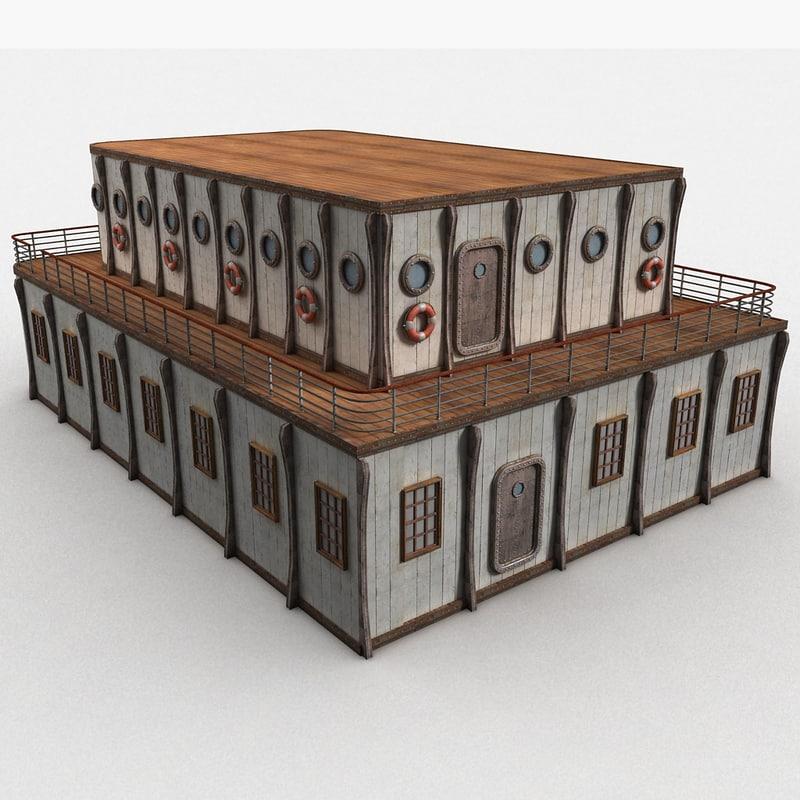 building ship 3d model