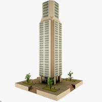 3d skyscraper games model