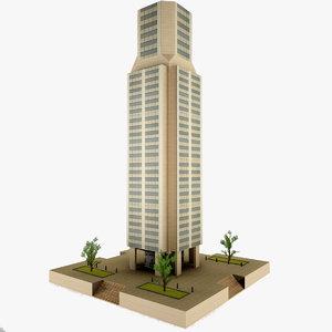 3d skyscraper games model