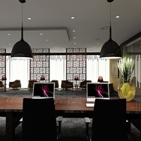 3ds max office reception scene