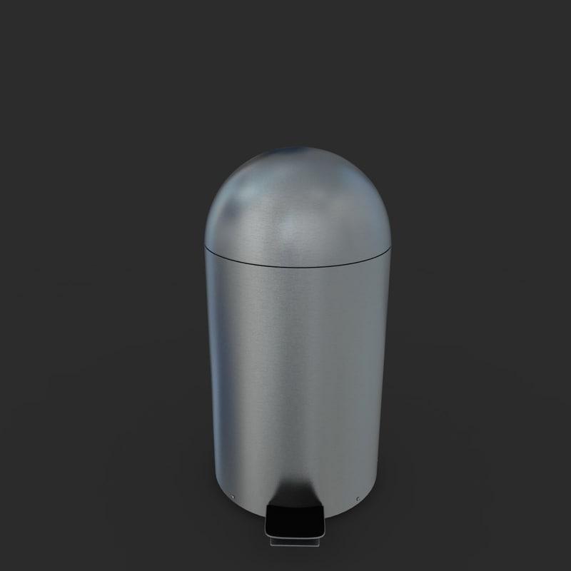 3d model pedal bin