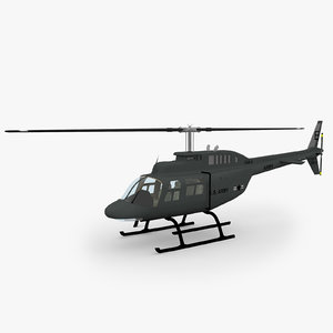 206 jetranger helicopters 3d model