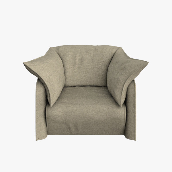 3ds max cassina armchair 380 la