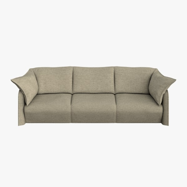 cassina sofa 3 seats 3d model