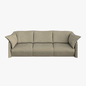 cassina sofa 3 seats 3d model