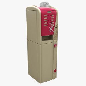 3d coffee vending machine 3 model