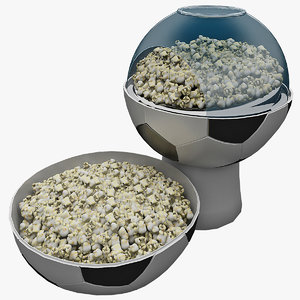 football popcorn maker 3d c4d