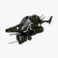 sci fi helicopter fighter 3d model