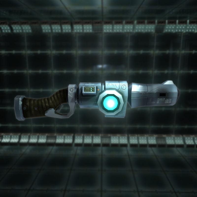 3d laser rifle sci-fi