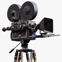 Vintage Film Movie Camera
