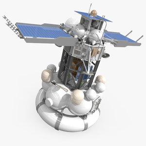 3d model of russian phobos-grunt