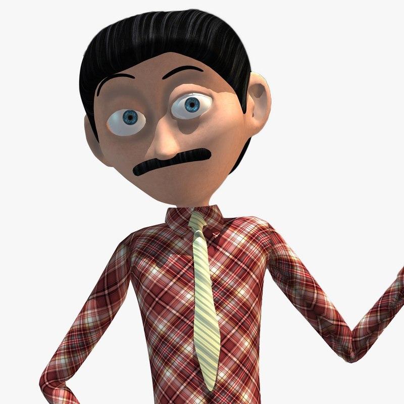 3d model cartoon character anchor presenter