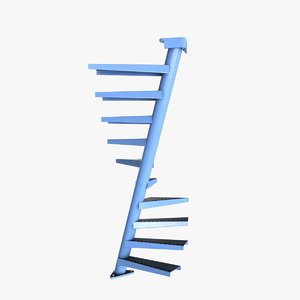 3d model of real floating spiral staircase