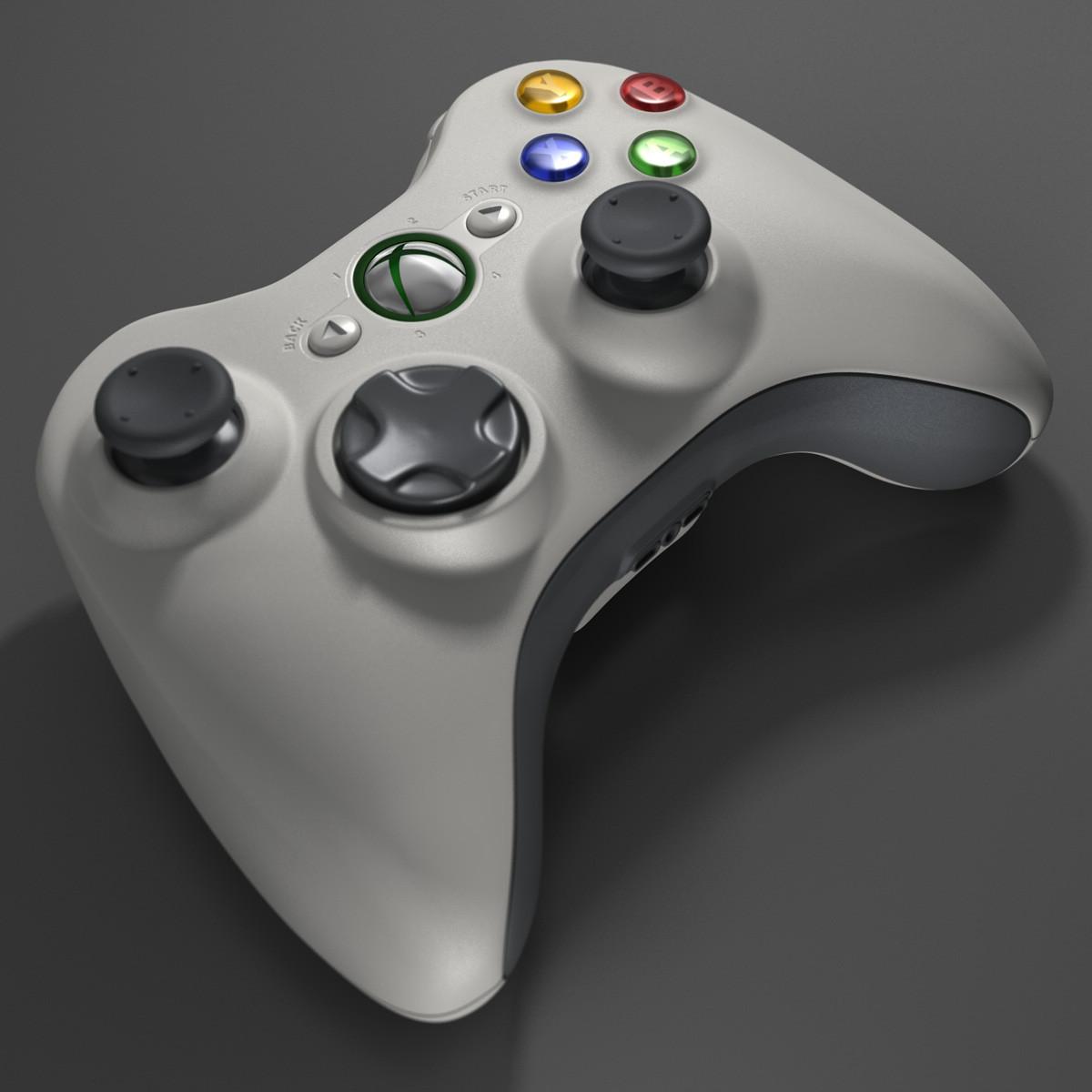 xbox 360 controller 3d c4d