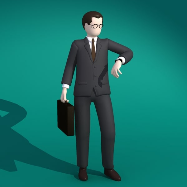 businessman concept 3d model