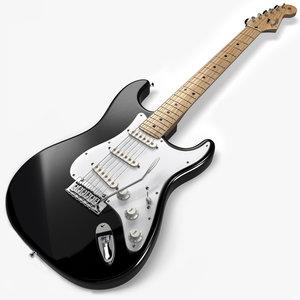 fender stratocaster blackie guitar 3ds