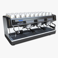 3d commercial espresso machine model