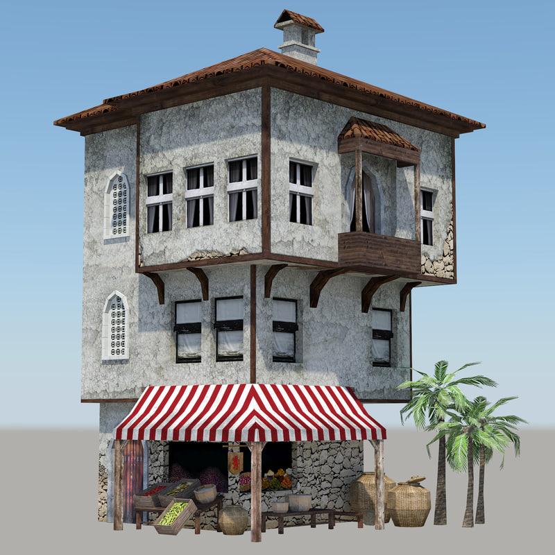 3d ready mediterranean house