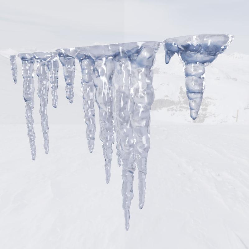 maya icicles ice
