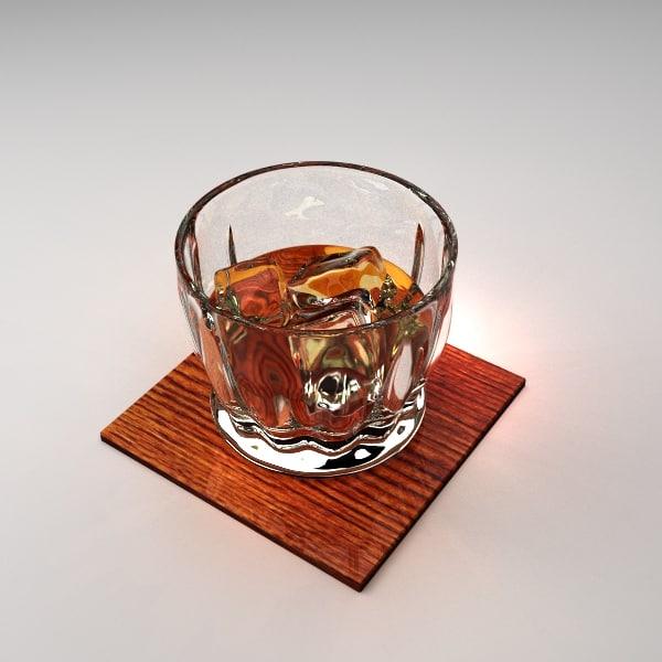 whiskey rocks 3d obj