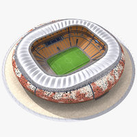 3d soccer city stadium