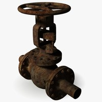 old rusted valve 3d model