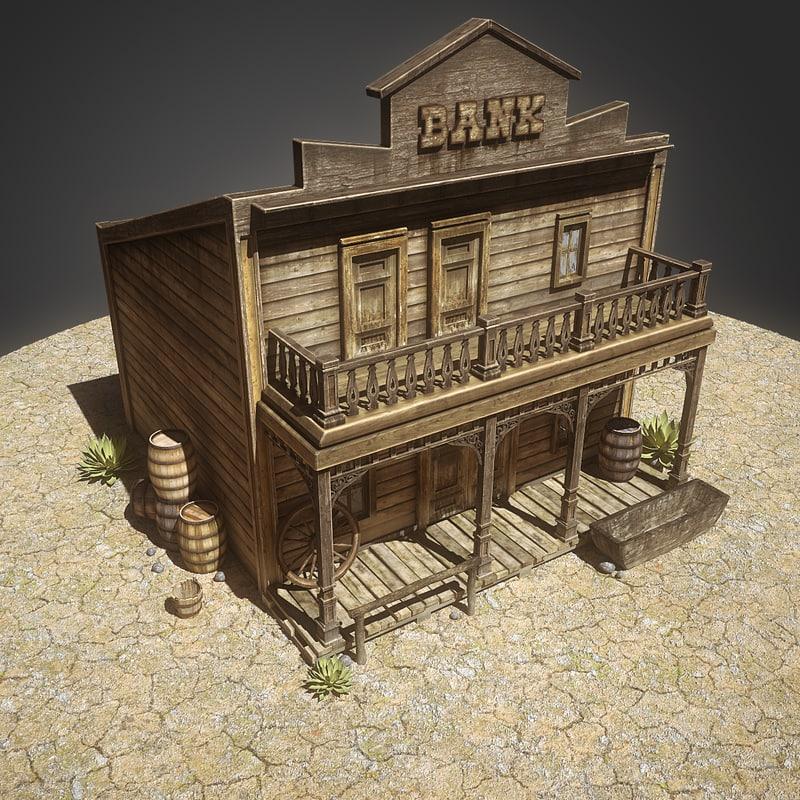 3d bank western old model