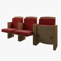 3d model theatre seats