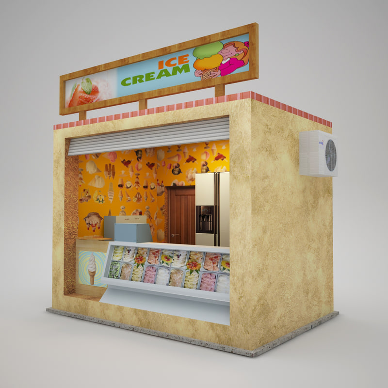 3d model of icecream shop park