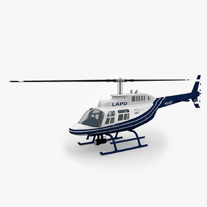 3d 206 jetranger helicopters model