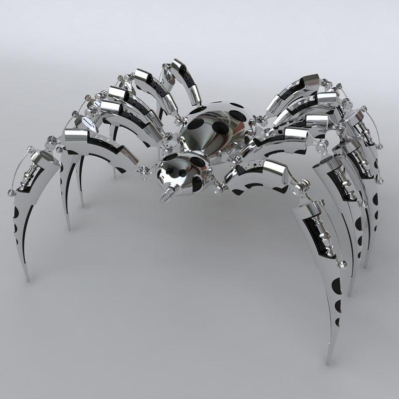 spider bot 3d max