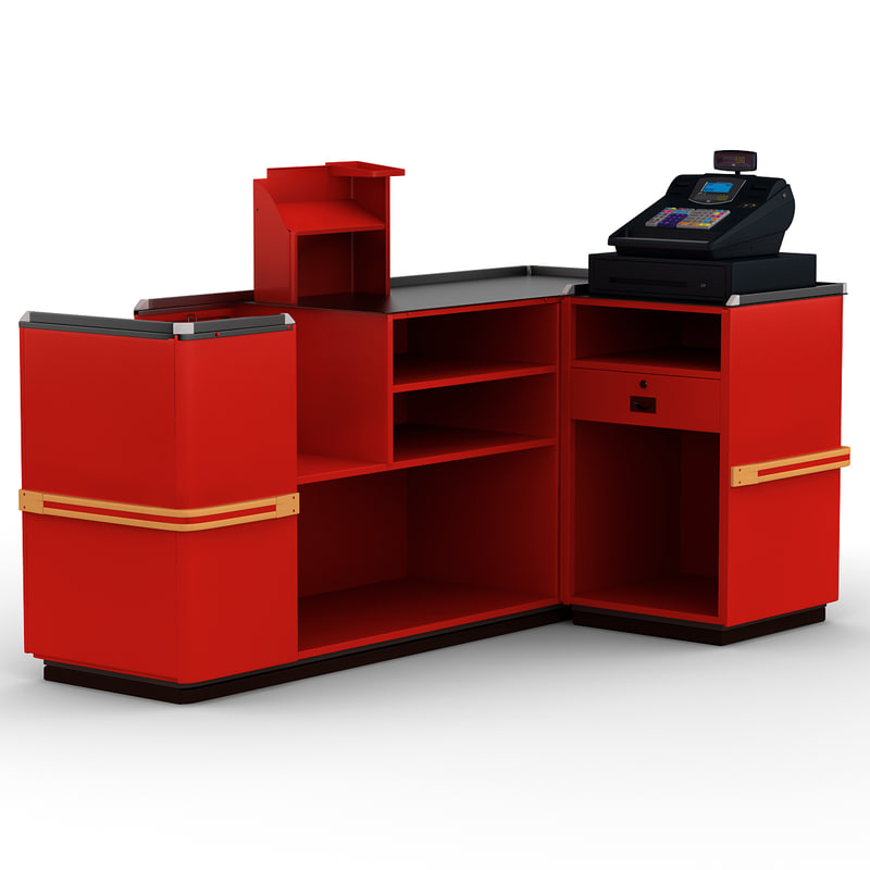 3d model of cash counter 6