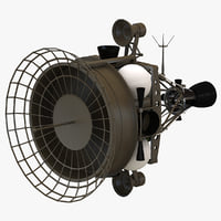 military anti-satellite target satellite 3d max