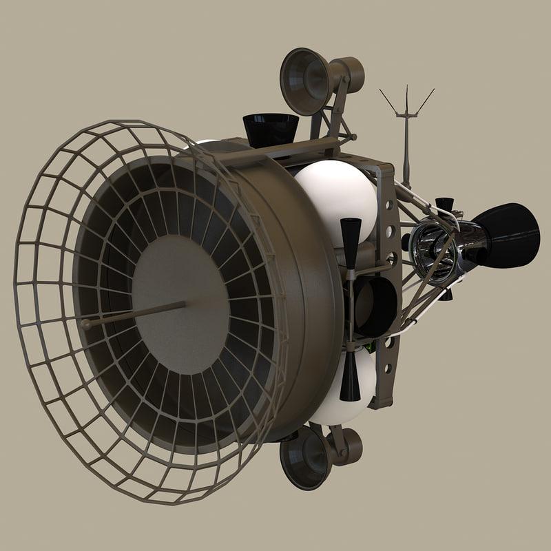 military anti-satellite target satellite 3d max