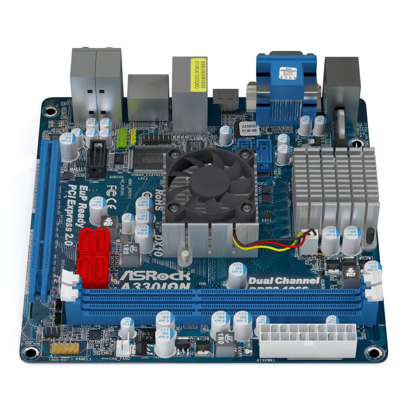 lightwave asrock a440ion motherboard