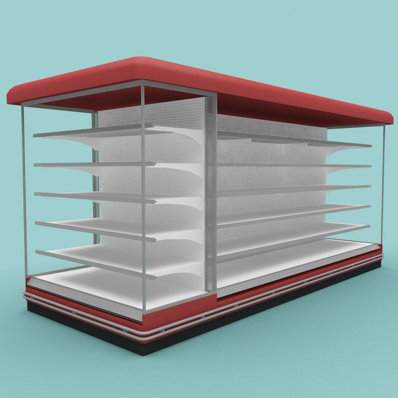 3d model supermarket shelf 7