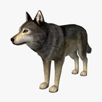 wolf edge loop 3d model