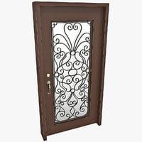 3d model wooden door 3